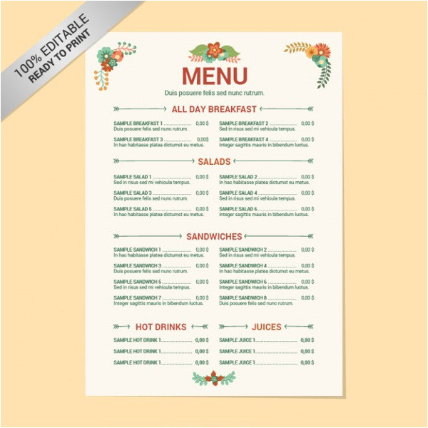Menu Layouts Templates 8 Menu Layout Templates Free Psd Eps format Download