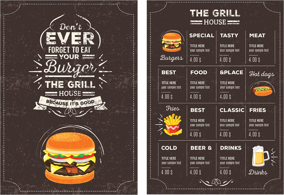 free psd restaurant menu templates