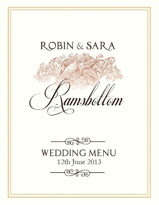 free wedding menu design photoshop templates