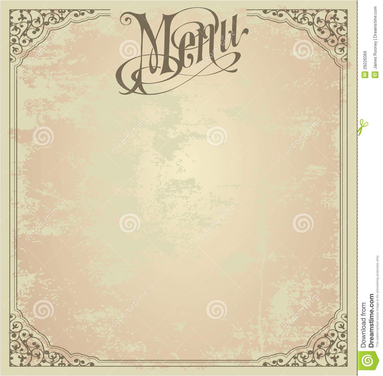 post printable blank restaurant menus 104849