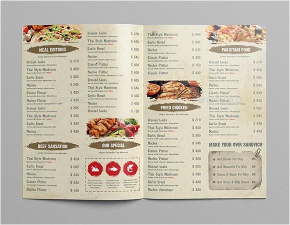 restaurant menu design templates