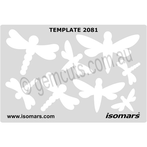 metal clay design template dragonflies