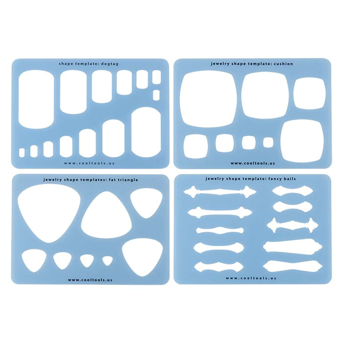 Metal Clay Templates Metal Clay Templates Set 1