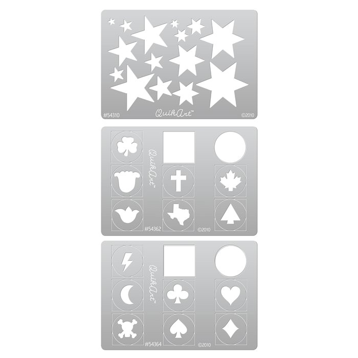 Metal Clay Templates Quikart Metal Clay Template Set Stars and Special Shapes