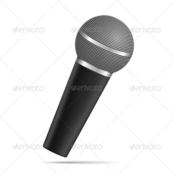 microphone flag template