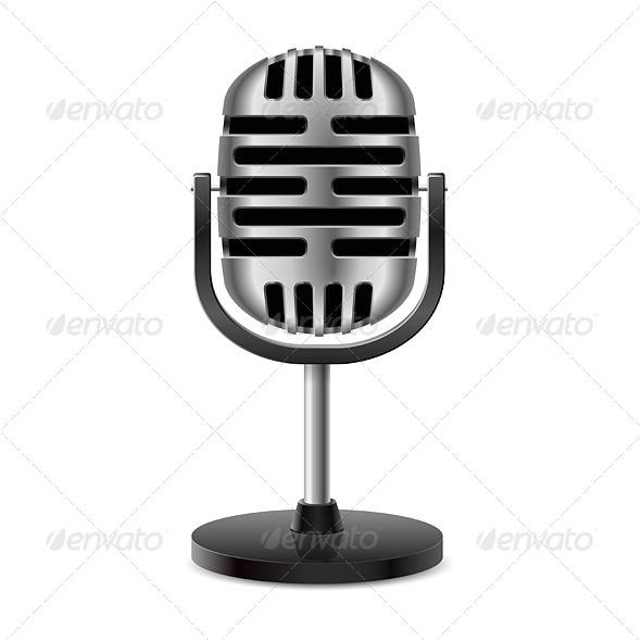 microphone flag template printable
