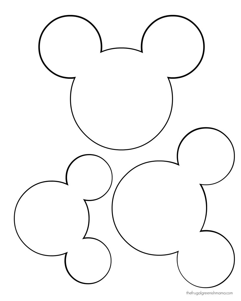 Mickey Mouse Head Shape Template Diy Mickey Garland Decoration Our Homemade Life