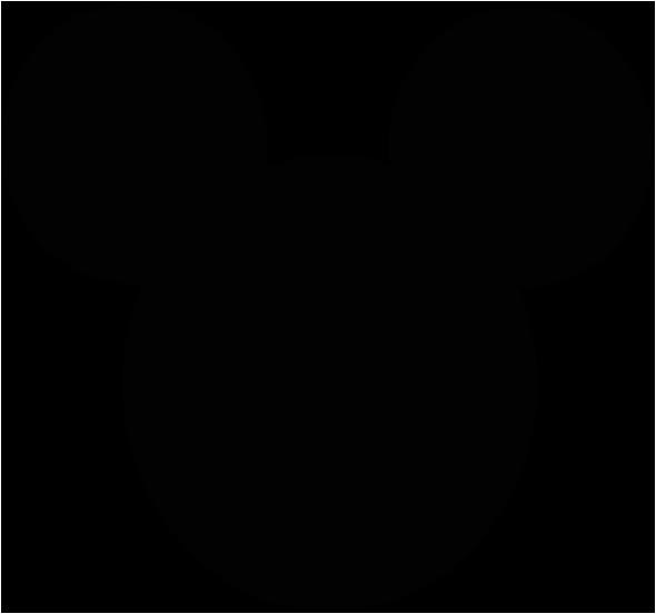mickey mouse head shape black