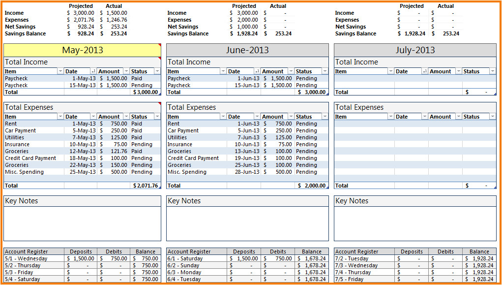 microsoft budget template