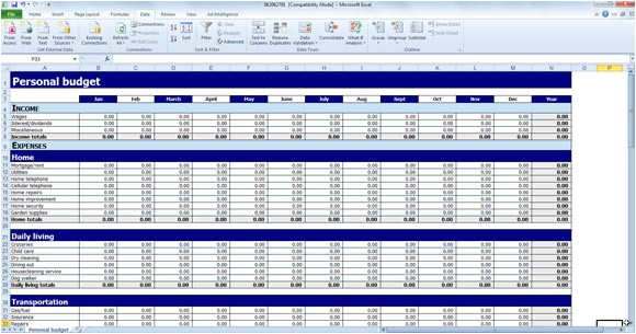 wedding budget template for excel 2013