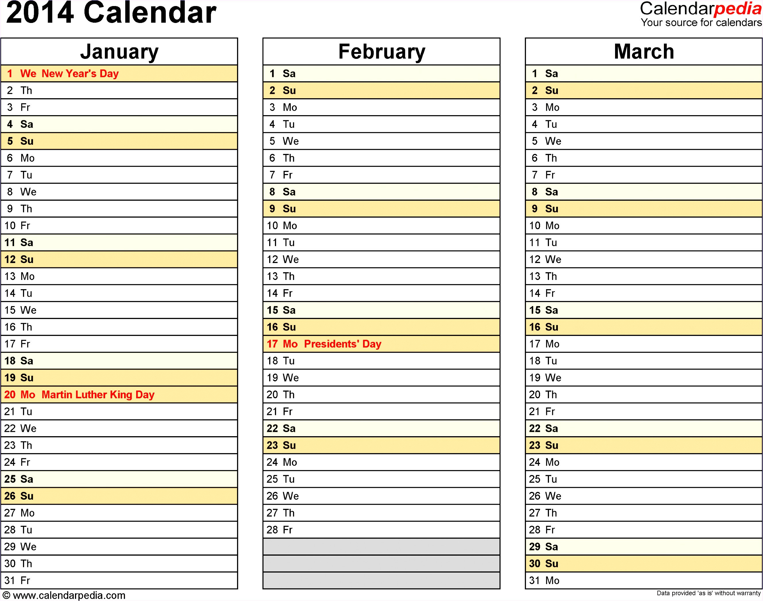 Microsoft Excel Calendar Templates 2014 9 Ms Excel Calendar Template 2014 Exceltemplates