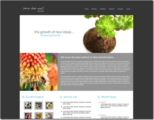 free green business web site template