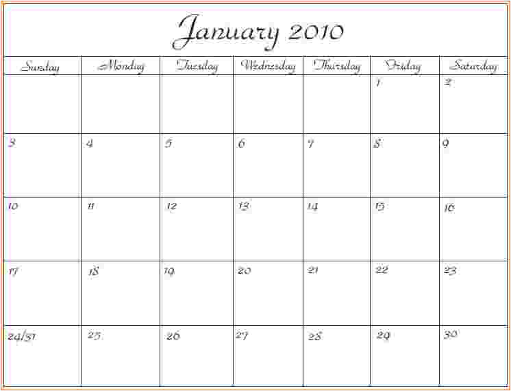 6 microsoft office calendar templates