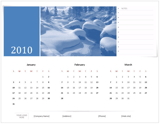 Microsoft Office 2010 Calendar Template Download 2010 Calendar Templates for Microsoft Office 2007