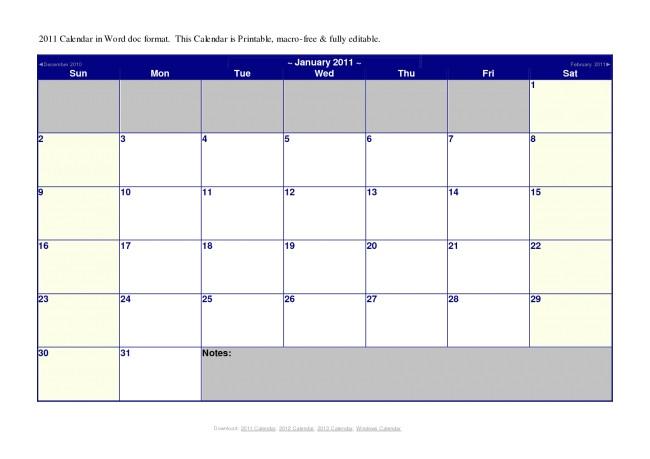microsoft office calendar template 2014