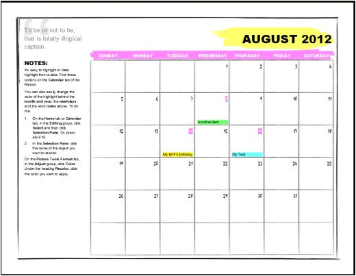 microsoft word 2010 calendar template microsoft office calendar templates hubpages download