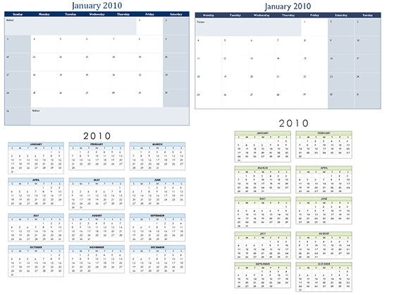 2011 calendar template with holidays