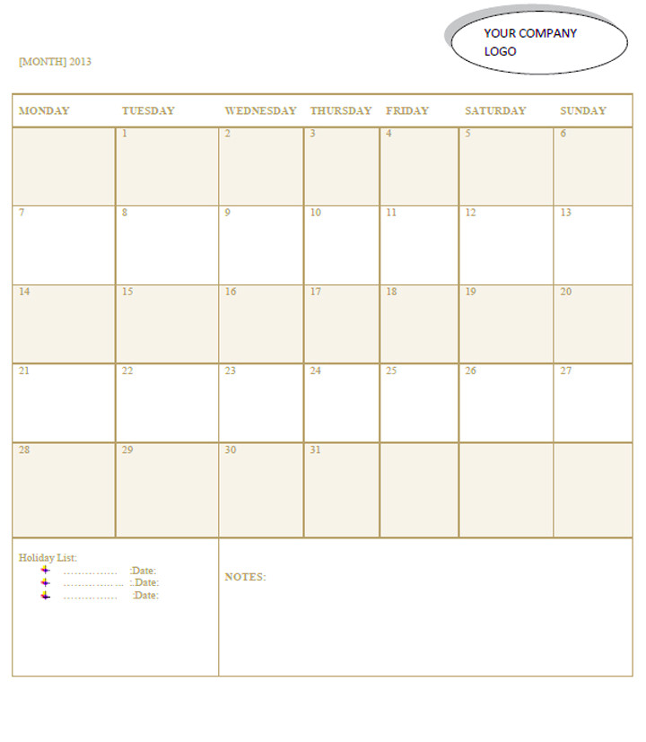 Microsoft Office 2013 Calendar Template Calender Template Part 2