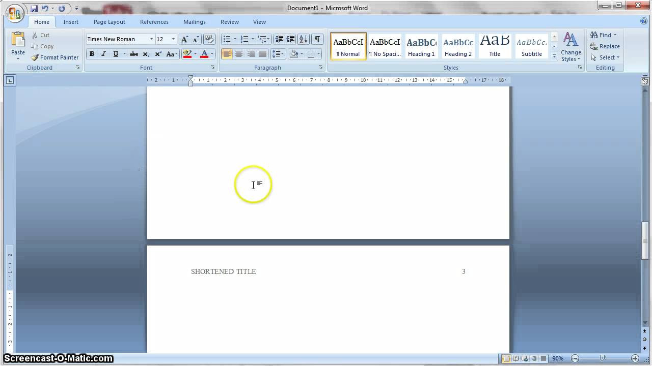 microsoft word 2007 apa 6th edition template
