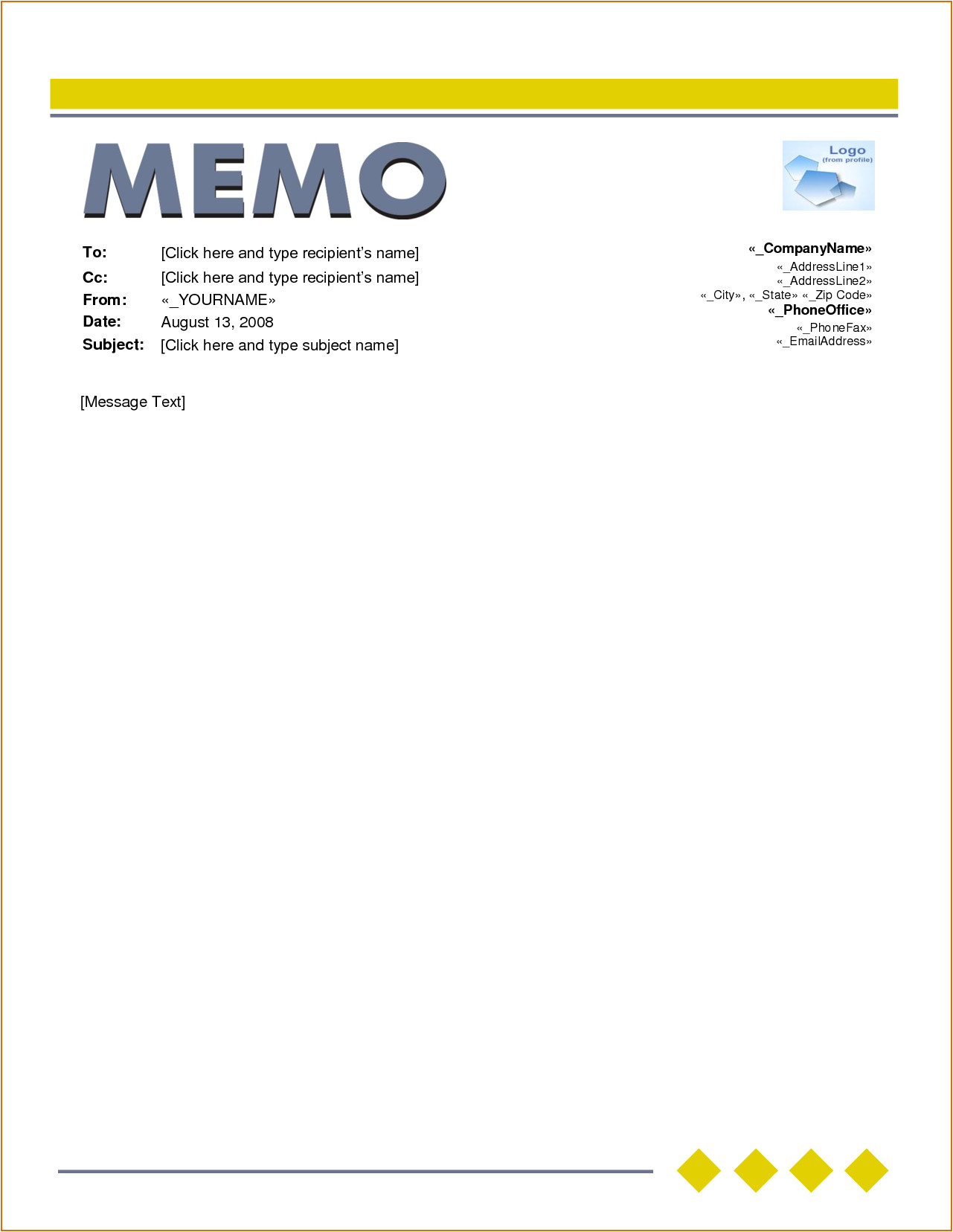 Microsoft Office Memo Templates Free 6 Word Memo Template Authorizationletters org