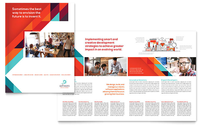 Microsoft Office Publisher Templates for Brochures Application software Developer Brochure Template Word