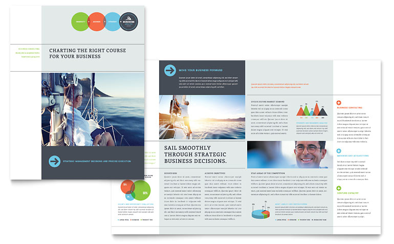 Microsoft Office Publisher Templates for Brochures Business Analyst Brochure Template Word Publisher