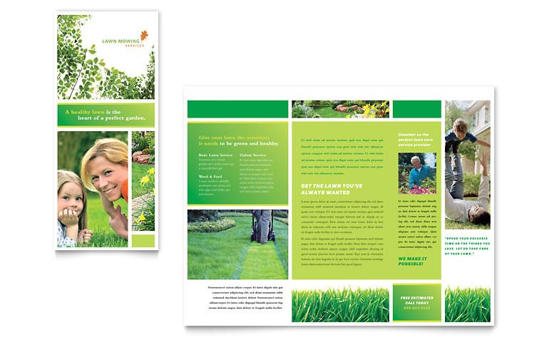 lawn mowing service brochure templates hm0070101d