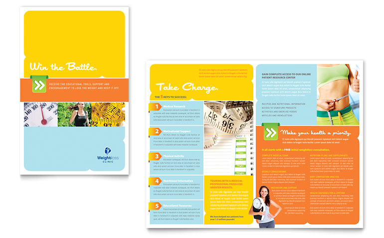 weight loss clinic brochure templates hb0080101d