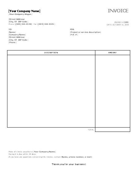 post microsoft office invoice templates 27245