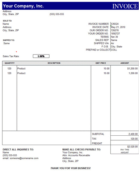 Microsoft Office Receipt Template Free Invoice Template Excel Download Free Printable Invoice