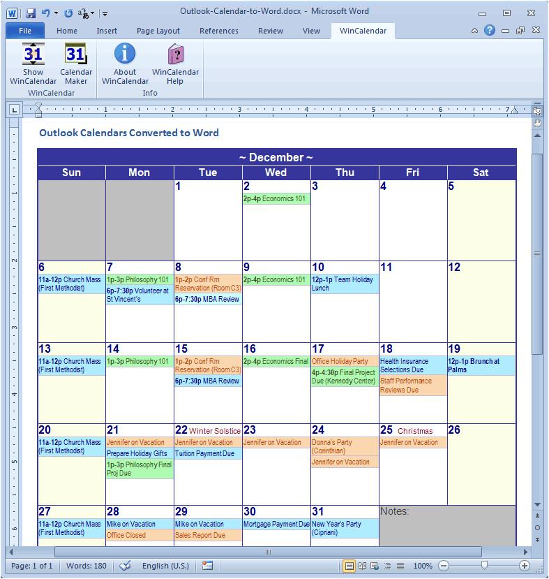 outlook calendar import