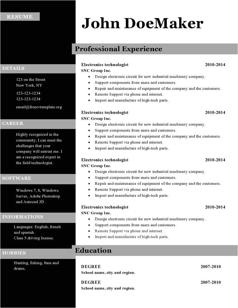 cv templates microsoft publisher