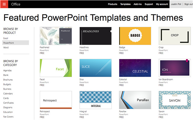 5 sites microsoft powerpoint templates tools