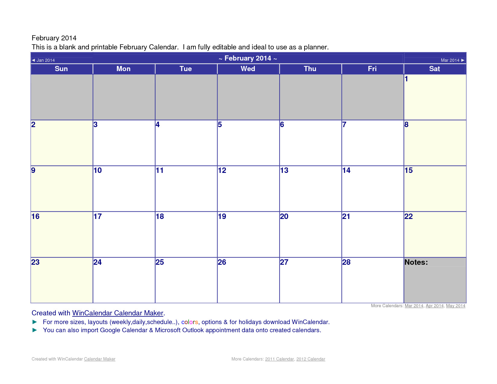 microsoft word 2014 calendar template