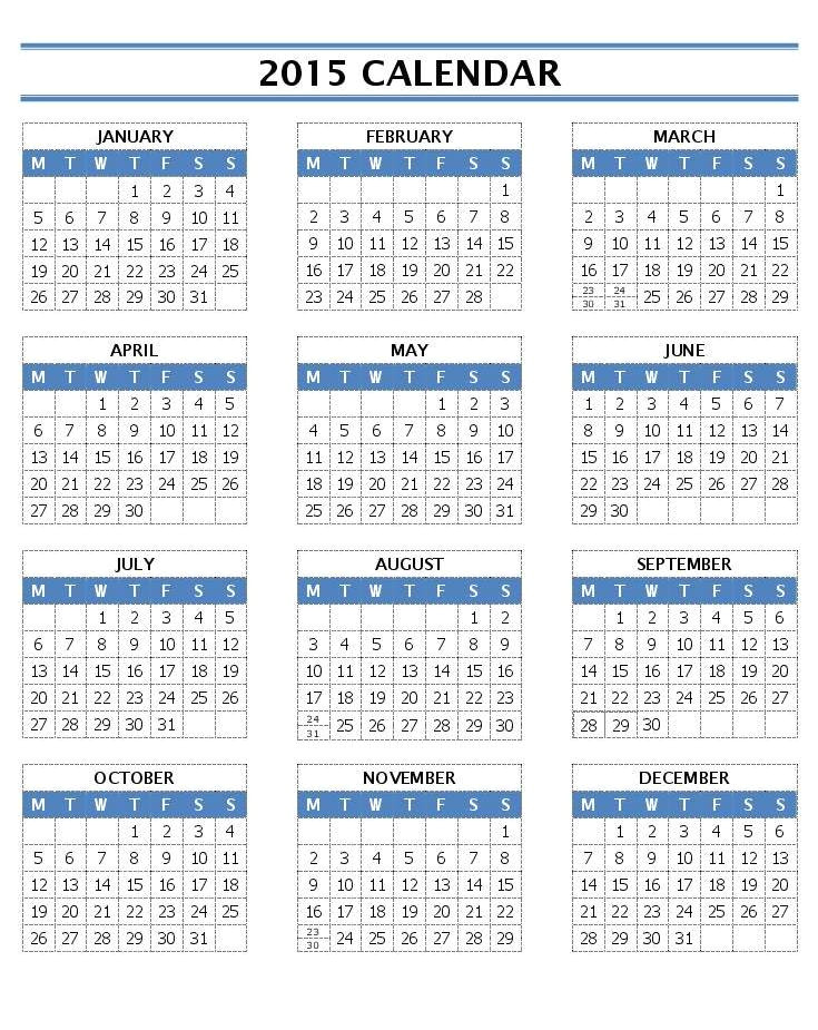 Microsoft Word 2015 Calendar Template Monthly 16 2015 Word Calendar Template Images 2015 Monthly
