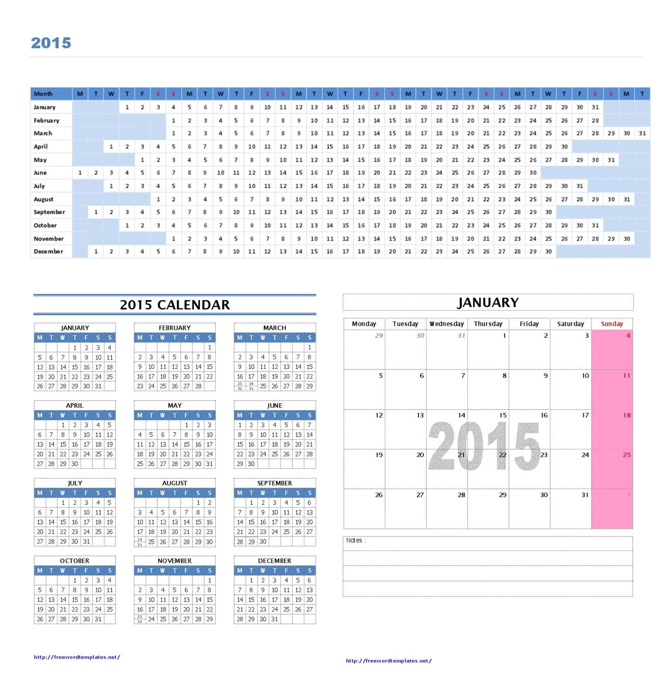 Microsoft Word 2015 Calendar Template Monthly 2015 Calendar Template Microsoft Word Great Printable