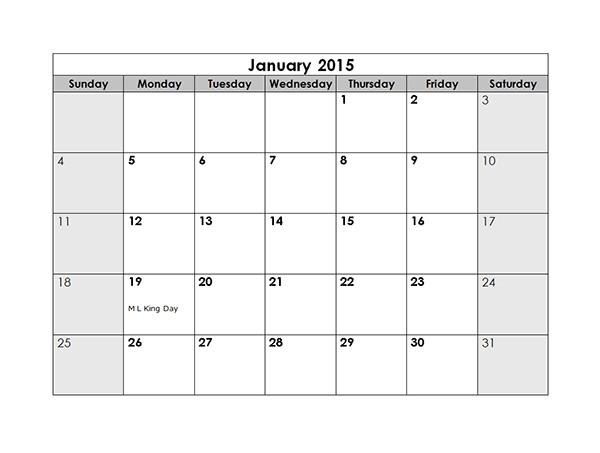 microsoft calendar template 2015