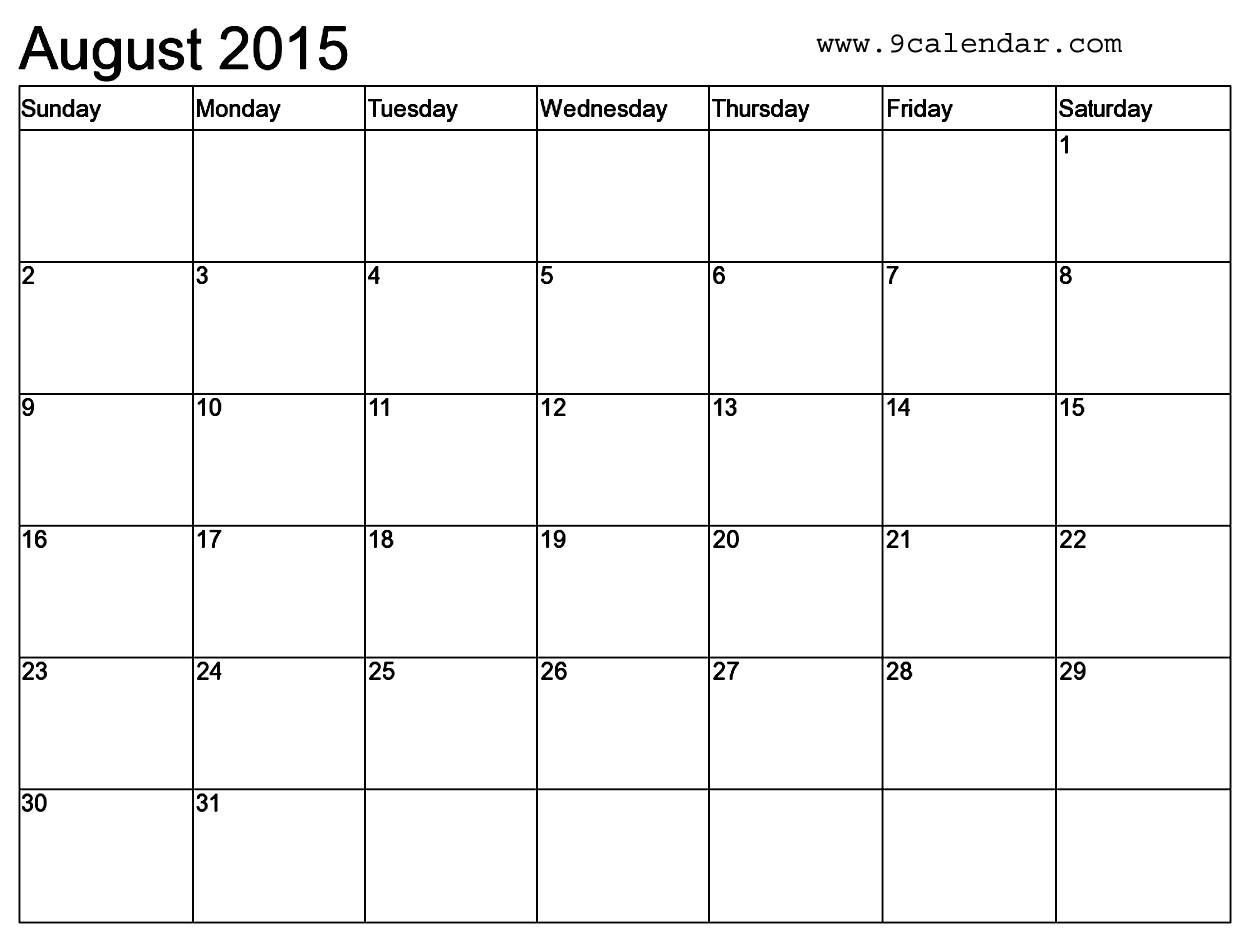 microsoft word 2015 monthly calendar template