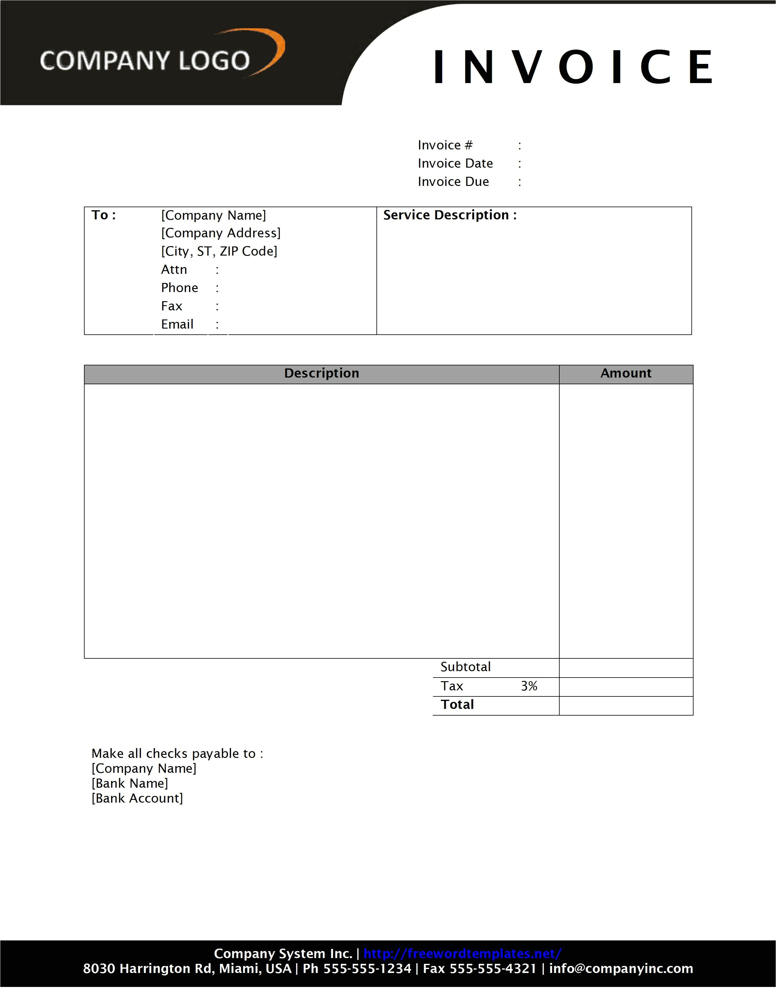 invoice template word 2010 853