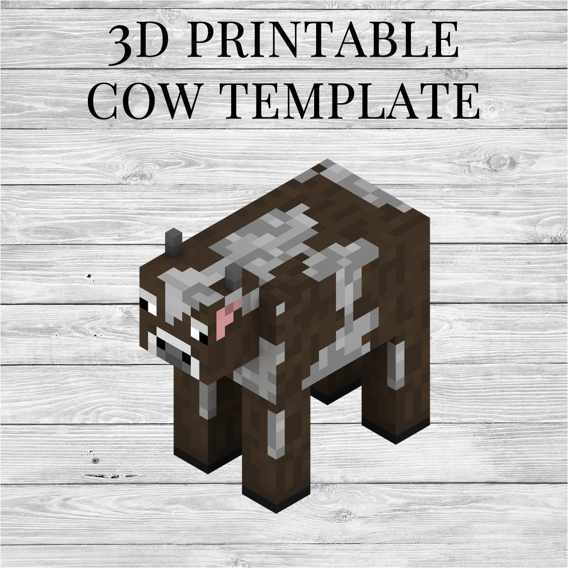 printable minecraft cow