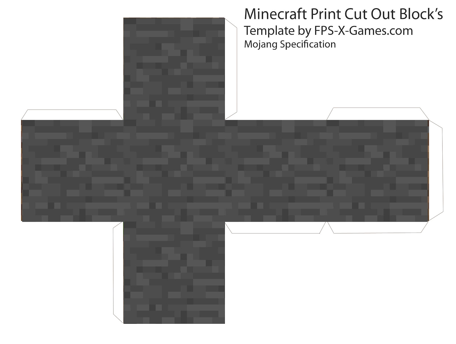 minecraft cubes printable cut out