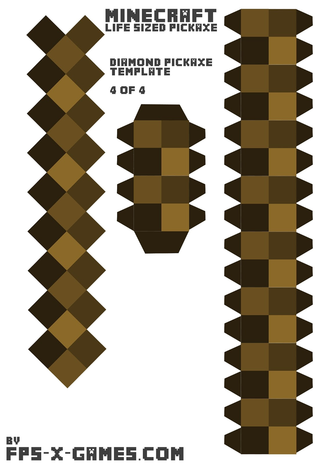 Minecraft Cut Out Templates Minecraft Papercraft Templates Great Printable Calendars