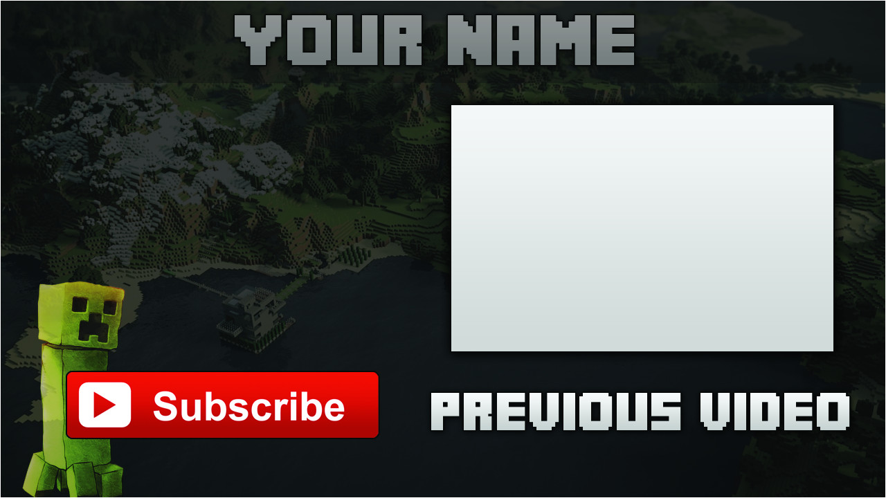 minecraft outro template download 426028755