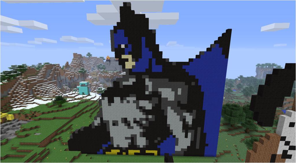 Minecraft Pixel Art Templates Batman Creative Pixel Art Ideas Batman Collection Minecraft