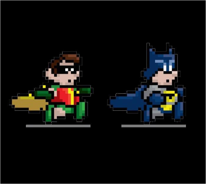creative pixel art ideas batman