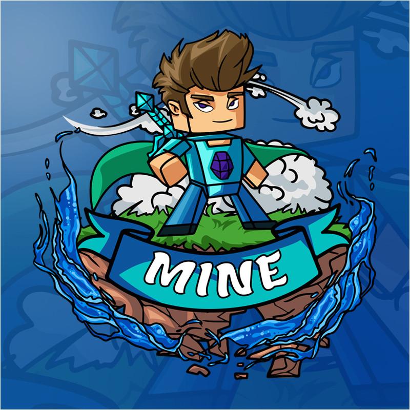 minecraft logo template 02