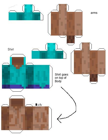 3d paper crafts minecraft