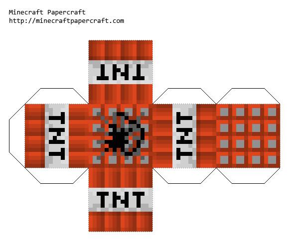 new 721 papercraft minecraft tnt