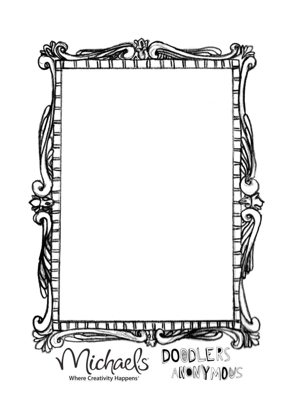 Mirror Will Template Hand Held Mirror Coloring Page Hand Mirror Coloring Page