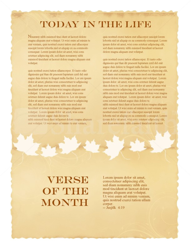 Missionary Newsletter Templates Fall Missionary Update Newsletter
